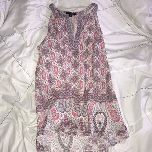 Pink, white, and grey tunic style tank